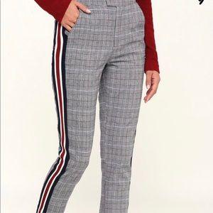 Treasure and Bond plaid trousers